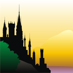 castle silhouette