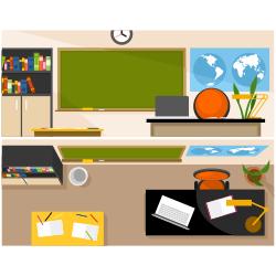 School classroom vector
