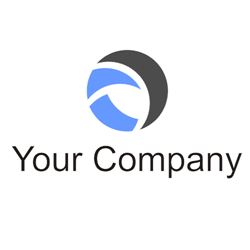 Round vector logo