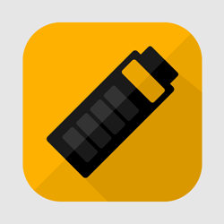 Flat Battery Icon or Button