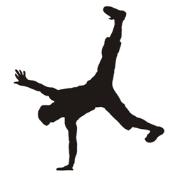 Breakdancer silhouette vector