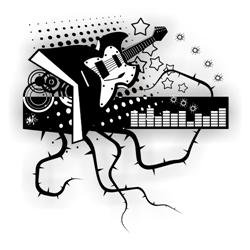 Music guitar background