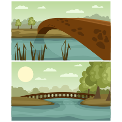 Stone bridges vector