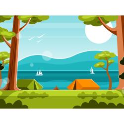 Tent camp vector