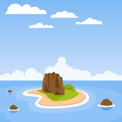 Tropical island vector