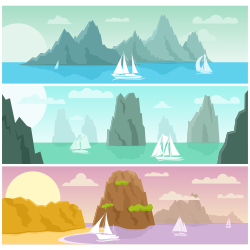 summer seascape vector