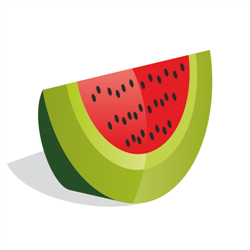 Watermelon Slice Vector