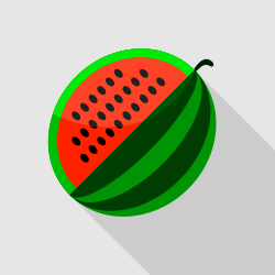 Watermelon Flat Vector