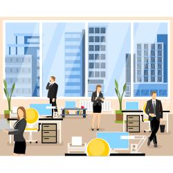 Office interior vector