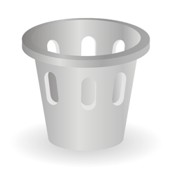Office trash can icon