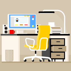 Workdesk vector