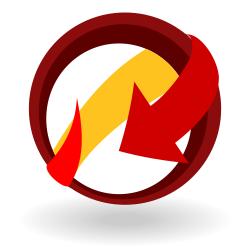 Arrow around ball icon
