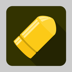Flat bullet icon or button