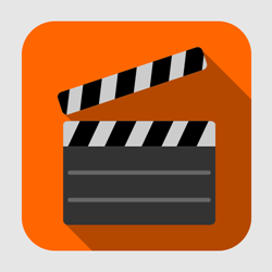 Flat Movie Clapper Vector