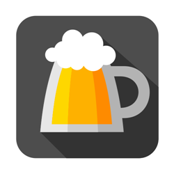 Flat icon mugs of beer