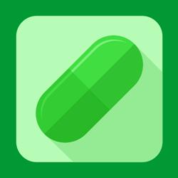 Medical pill icon or button