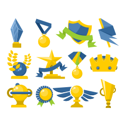 Trophy and awards vectors