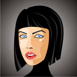 Woman face vector