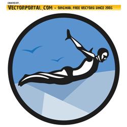 cliff diver vector