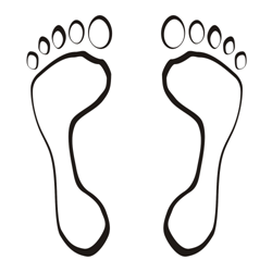 Foot steps vector