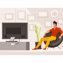 Man sitting vector