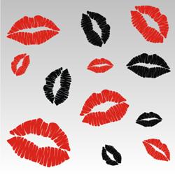 Lip kisses