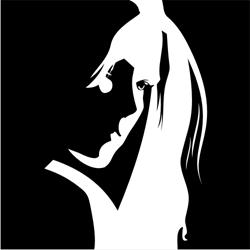 Woman face outline