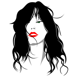 Woman with hair vector