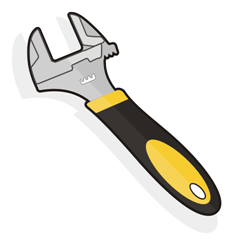 Adjustable spanner vector