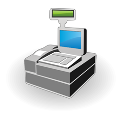 Cash register vector