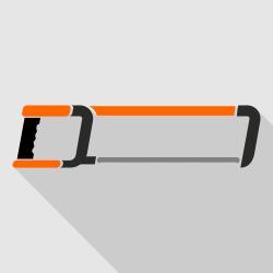 Hacksaw vector