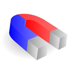 Horseshoe magnet vector