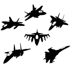 Jet fighter vector