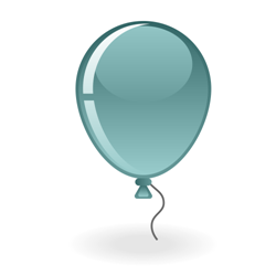 Teal ballon icon