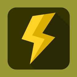 Flat lightning vector