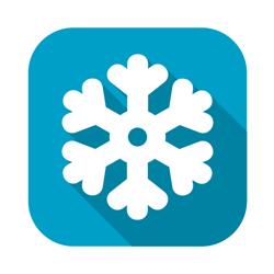 Flat snowflake vector